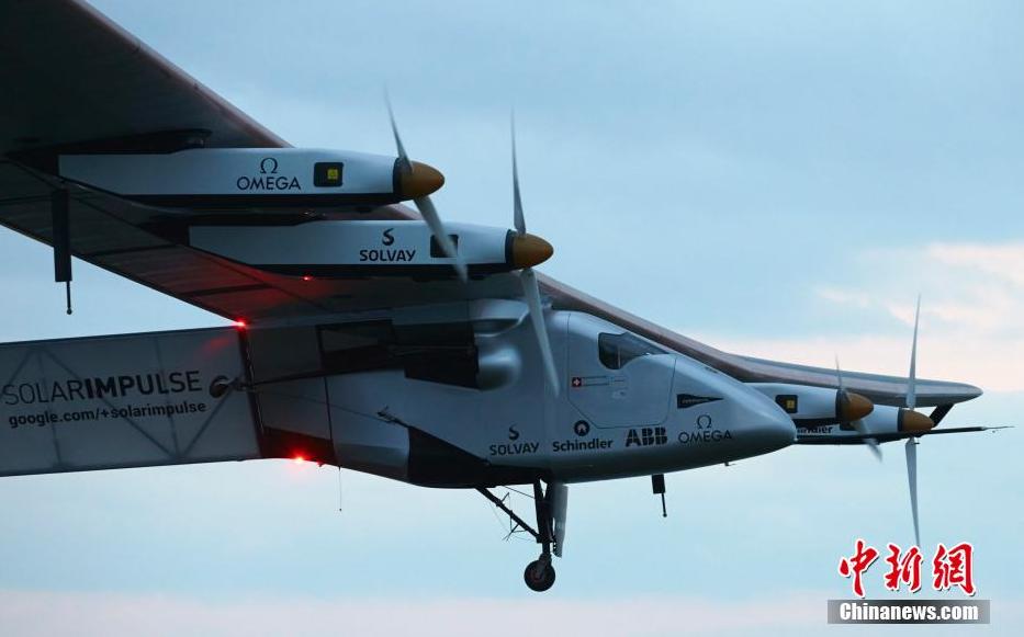全球最大太阳能飞机在瑞士首飞
