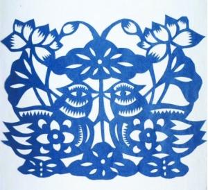 五瓣花剪纸图案大全图片大全 图案,剪出自己喜欢的团花剪纸